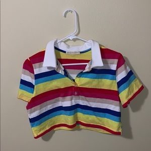 Fashion Nova Rainbow Stripe Crop